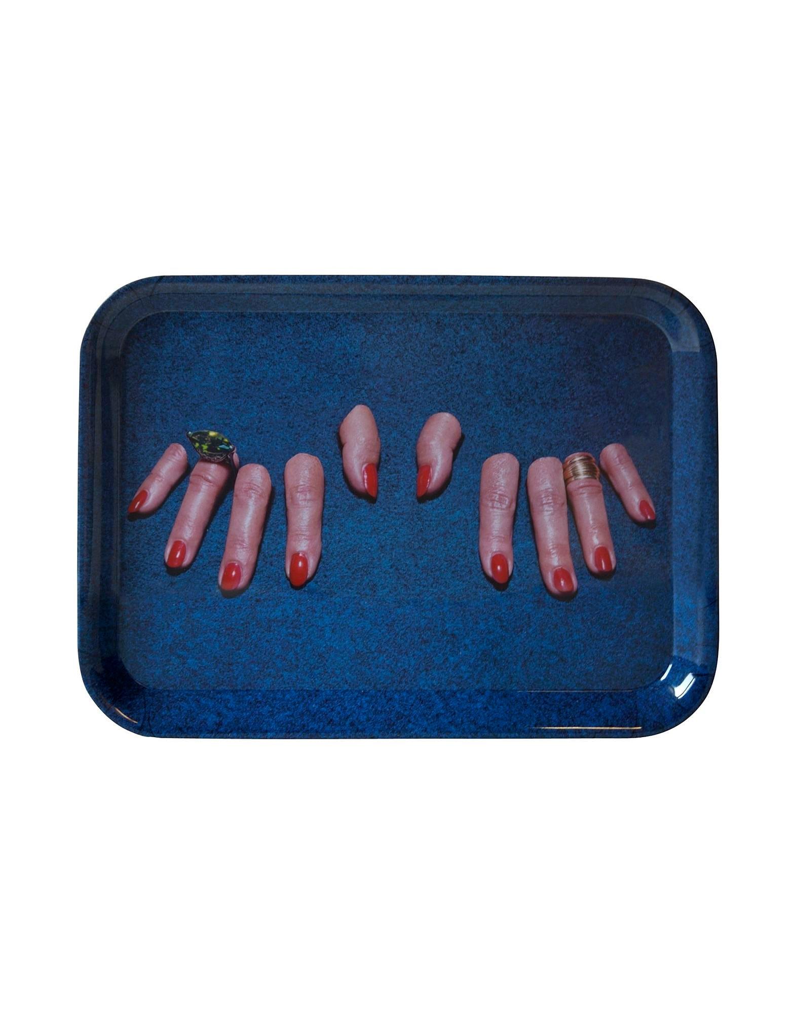 Toilettenpapierablage - Finger - 43 x 32 cm Mehrfarbig   Seletti Blau Maurizio Cattelan   Pierpaolo Ferrari