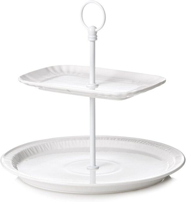 Alzata Per Torta Estetico Quotidiano Ø 28 x H 25,5 cm Bianco Seletti Selab|Alessandro Zambelli