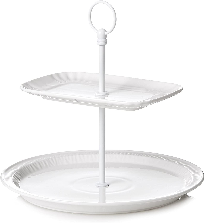 Ästhetischer täglicher Kuchenständer Ø 28 x H 25,5 cm Weißer Seletti Selab   Alessandro Zambelli