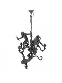 Suspension Lamp Monkey Chandelier Black Seletti Marcantonio Raimondi Malerba