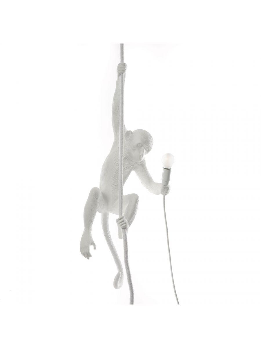 Lámpara de suspensión colgante Monkey - H 80 cm Blanco Seletti Marcantonio Raimondi Malerba