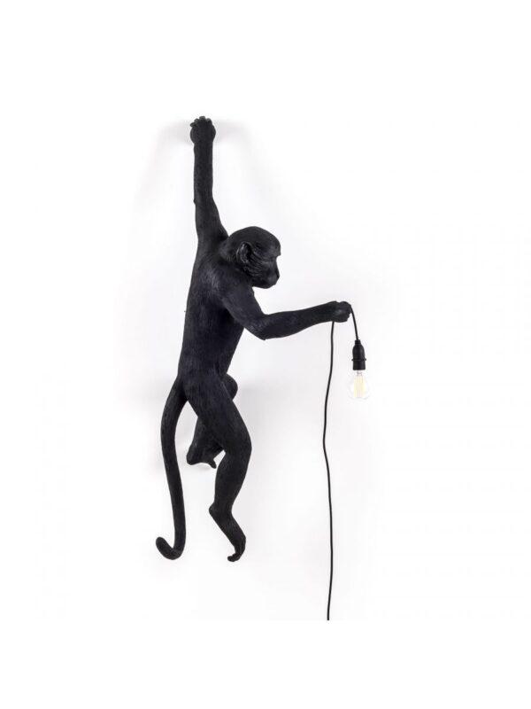 Applique murale d'extérieur Monkey Hanging / H 76,5 cm Noir Seletti Marcantonio Raimondi Malerba