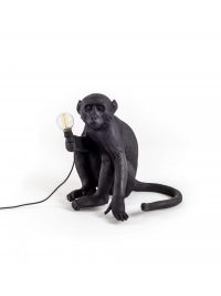 Monkey Sitting Outdoor Table Lamp - H 32 cm Black Seletti Marcantonio Raimondi Malerba