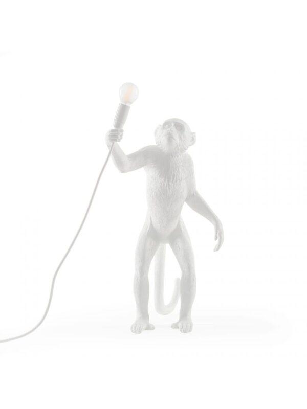 Εξωτερική επιτραπέζια λάμπα Monkey - H 54 cm Λευκό Seletti Marcantonio Raimondi Malerba