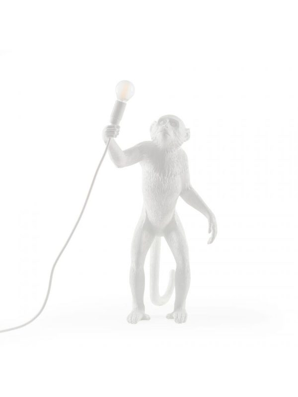 Lampe de table d'extérieur Monkey Standing / H 54 cm Blanc Seletti Marcantonio Raimondi Malerba