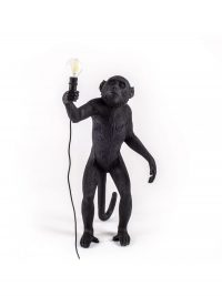 Monkey Standing Outdoor Table Lamp - H 54 cm Black Seletti Marcantonio Raimondi Malerba