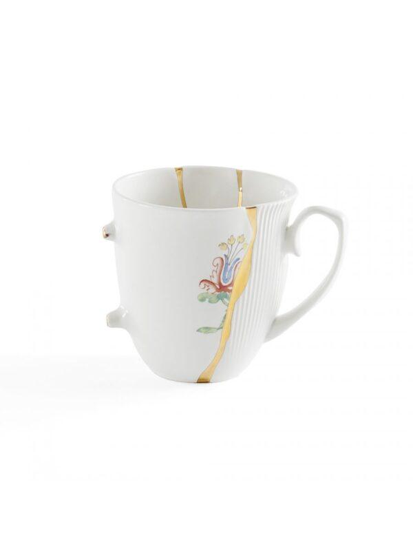 Mug Kintsugi Motivi multicolori Bianco|Multicolore|Oro Seletti Marcantonio Raimondi Malerba