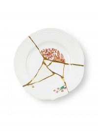 Kintsugi Dinner Plate Red Motifs White | Πολύχρωμο | Χρυσό Seletti Marcantonio Raimondi Malerba