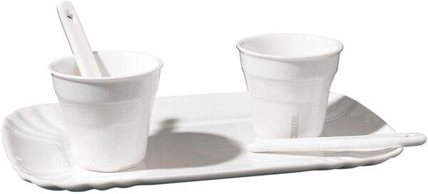 美的デイリーコーヒーカップセット-2人用ホワイトセレッティセラブ|アレッサンドロザンベリ