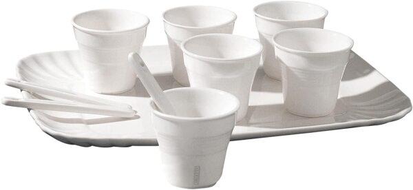 Set Tazzine Da Caffè Estetico Quotidiano - Per 6 persone Bianco Seletti Selab|Alessandro Zambelli