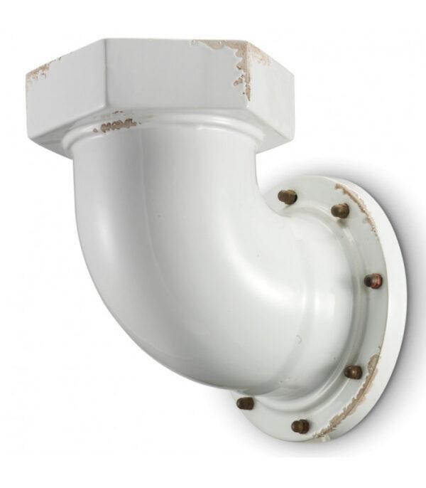 Industrial Wall Lamp C1810 White Ferroluce 1