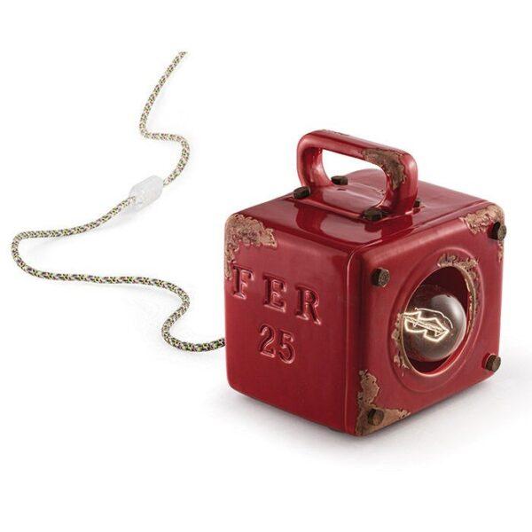 Industrielle Tischlampe C1650 Bordeaux von Ferroluce 1