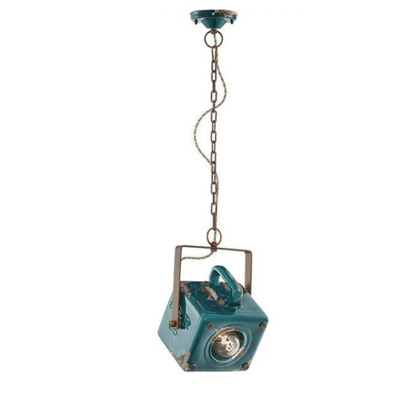 Industrial C1652 Green Suspension Lamp της Ferroluce 1