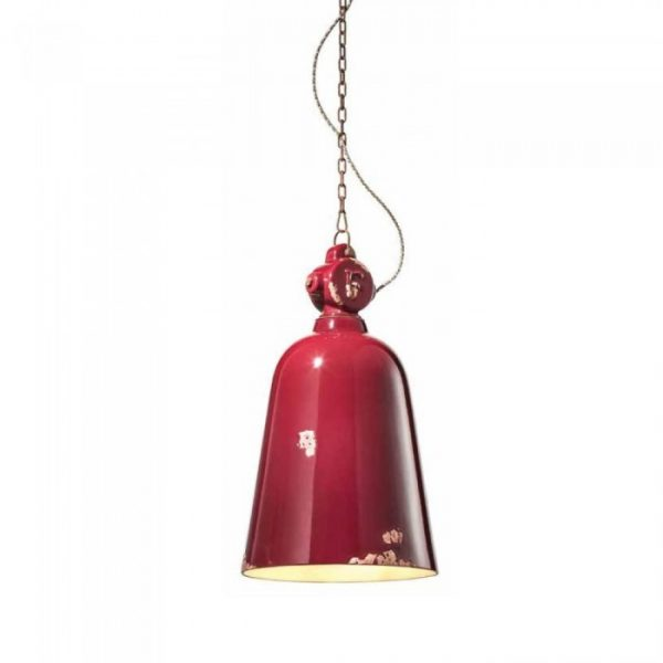 Industrial C1745 Red Suspension Lamp της Ferroluce 1