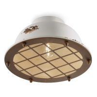 Industrial C1760 White Ceiling Lamp by Ferroluce 1
