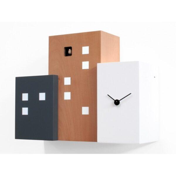 CLOCKS Walls Cuckoo White | Black | Beige Progetti Antonio Farina 1