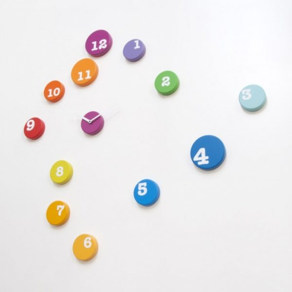 Orologio da parete Fun_time Multicolore Progetti Rnd_lab 1