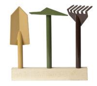 Instrumento establece jardín Orte internoitaliano Giulio Iacchetti
