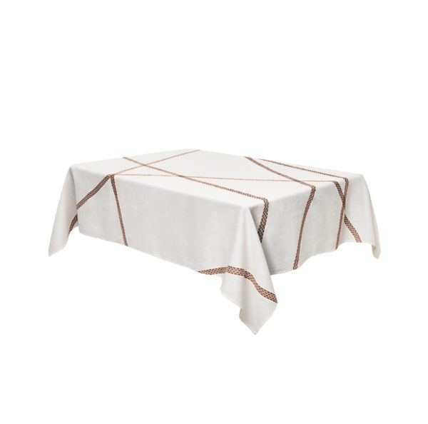 Tablecloth Lugo - 230 140 cm x Rust internoitaliano Irene Bacchi   Leonardo Sonnoli