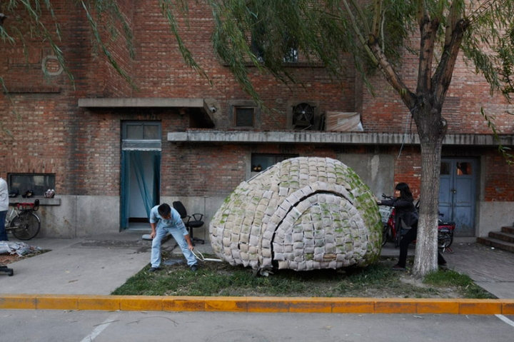 Egg Mobile Home, maison mobile en forme d'oeuf