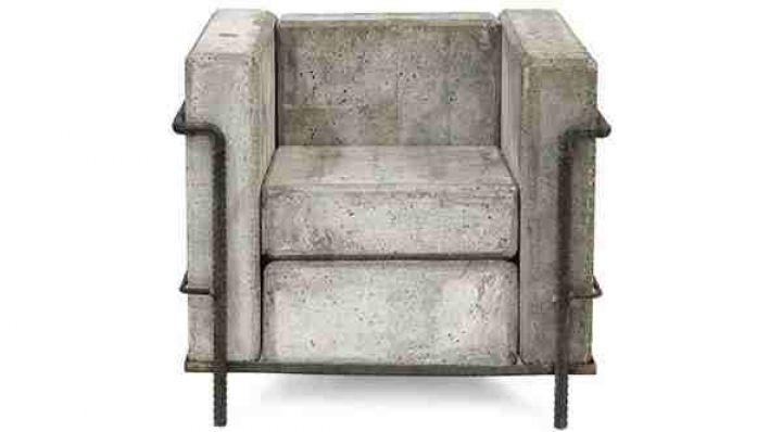 hormigón sofá