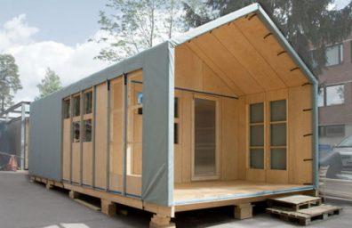 prefabricada de madera-casa-modelo