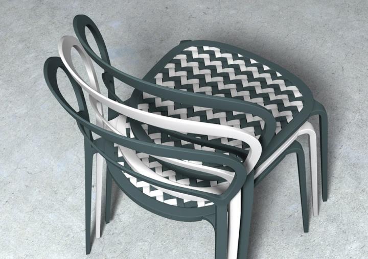 Calligaris sedia link anteprima salone del mobile 2012 for Sedia design mag