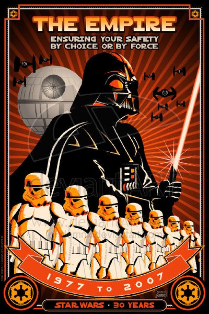 carteles guerras estilo de la estrella