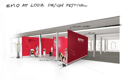 emo Design Festival de Lodz suporte Esboço