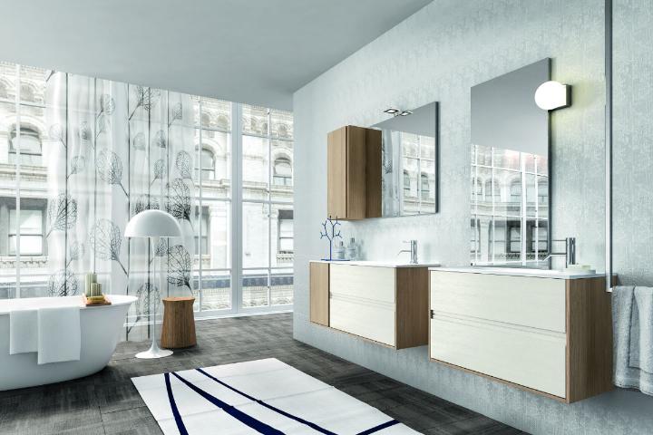 έπιπλα μπάνιου δρυς Cloe από Edone σχεδιασμός