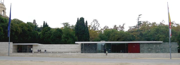 Barcelone Pavillon Mies van der Rohe
