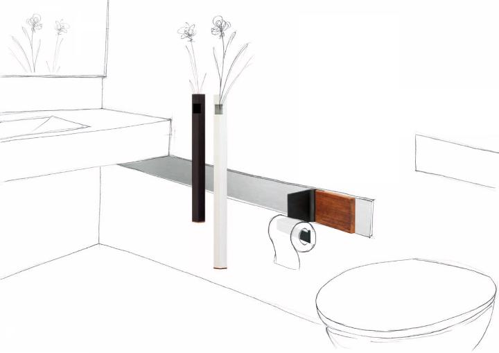 Desenho acessórios do banheiro App Projeto 4