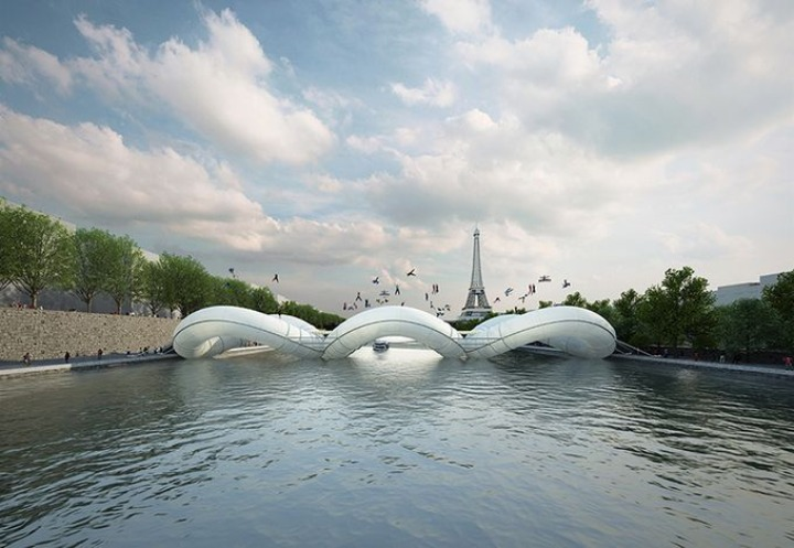 AZC Architektur Brücke in Paris 2