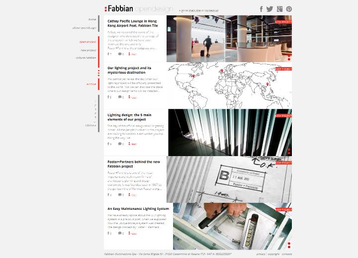 Beleuchtung Projekt Opendesign von Fabbian