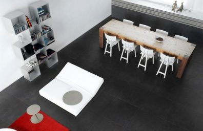 porcelain tile flooring fake cement Smart Town Dark750x500