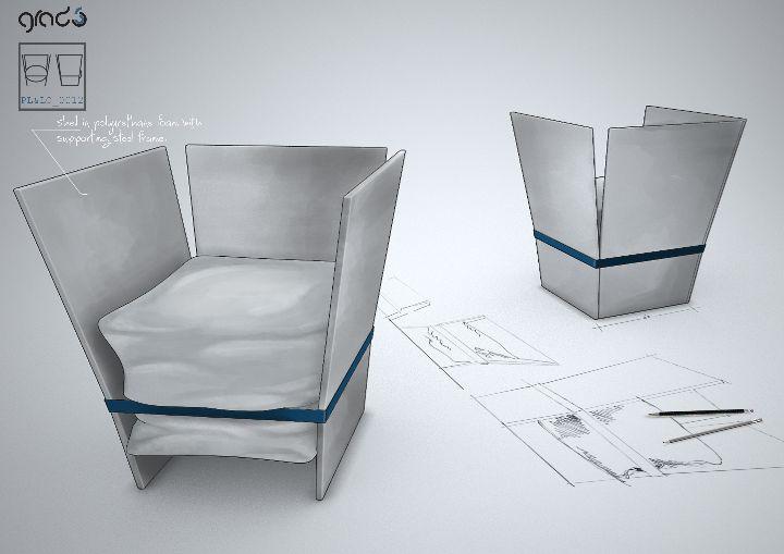 グラフィック椅子