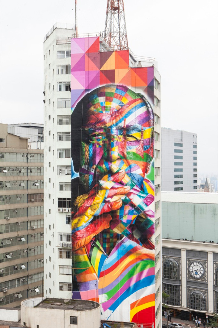 eduardo kobra tribute to Oscar Niemeyer 04