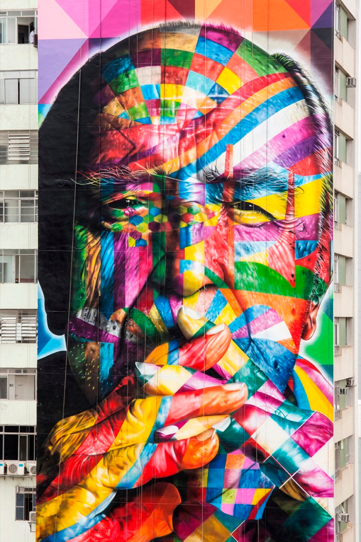 eduardo kobra tribute to Oscar Niemeyer 05