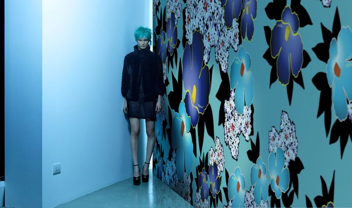 GIOPAGANI wallpaper China blu