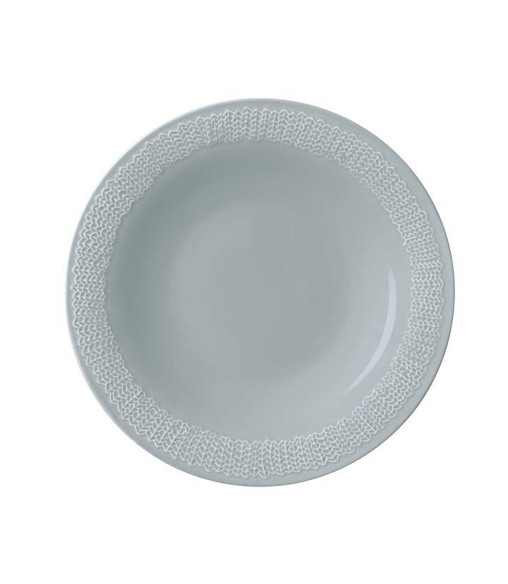 placa iittala Sarjaton 22 cm Doble gris perla