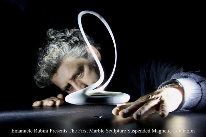 emanuele rubini levitating sculpture 01