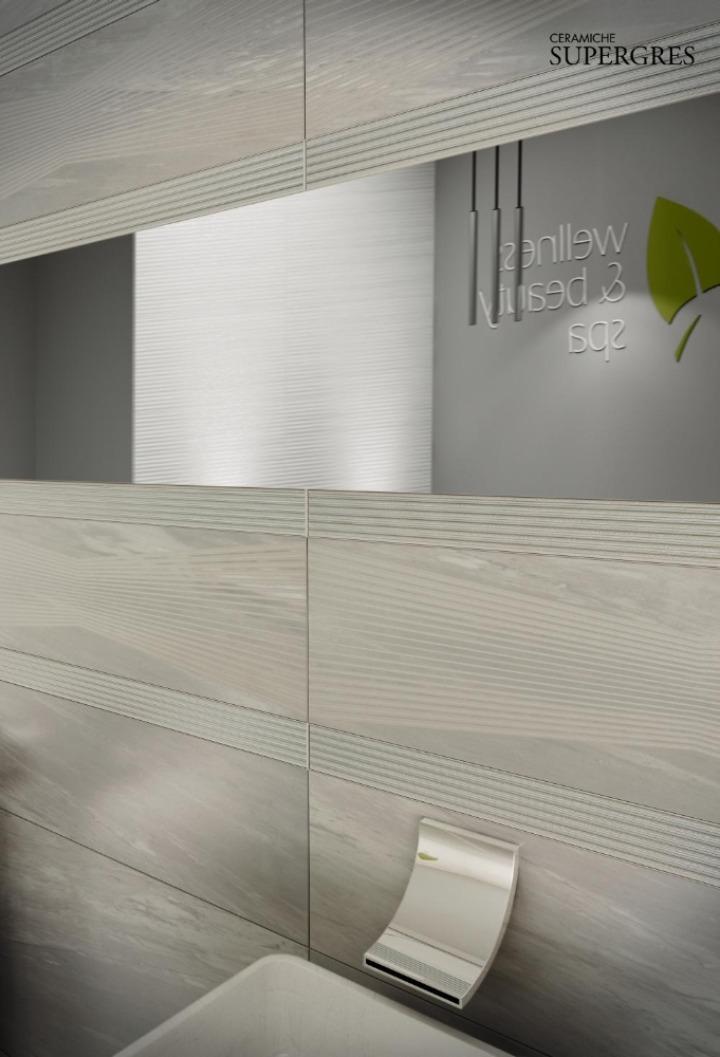 Re si de il rivestimento bagno che riproduce l eleganza del marmo e della pietra naturale - Angolari per piastrelle ...
