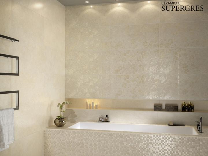 Re si de il rivestimento bagno che riproduce l eleganza - Finto mosaico bagno ...