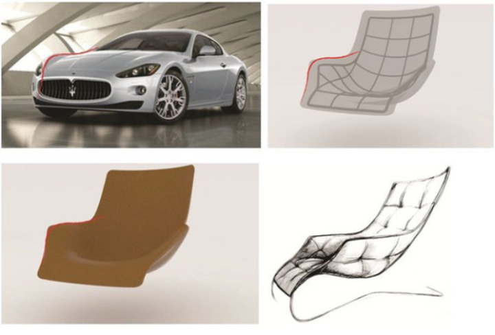 lounge chair maserati zanotta