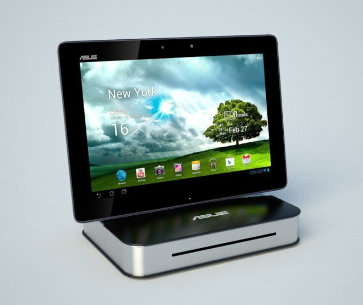 asus media dock das erste tablet dock mit cd dvd. Black Bedroom Furniture Sets. Home Design Ideas