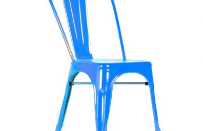 Industrial Blue Chair