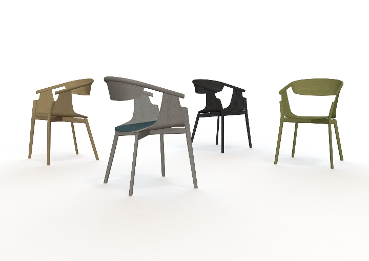 PLC Stools Group-Horizon Line by Pearson Lloyd 11