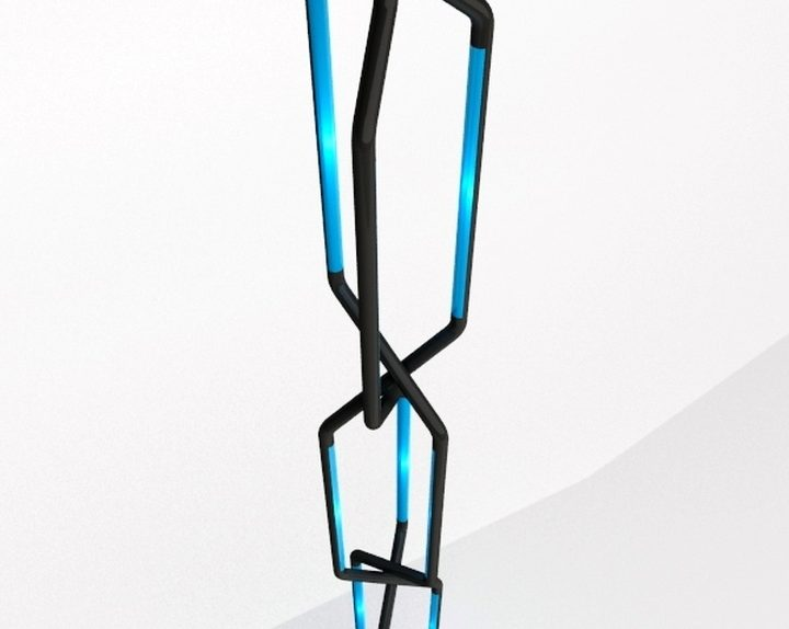 Roberto Pennetta systole Noir e bleu 3D2