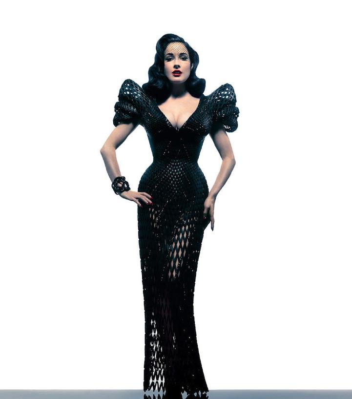 Dita Von Teese dress 3d printing 02