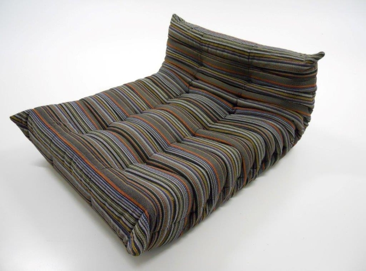 Ligne Roset The Sofa Togo Dresses With The Fabric Of Paul Smith